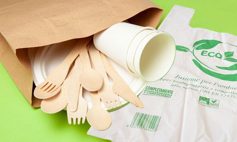 Articoli biodegradabili e compostabili